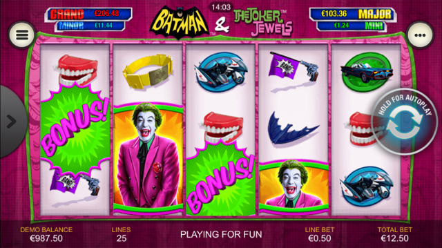 Batman And The Joker Jewels Slot