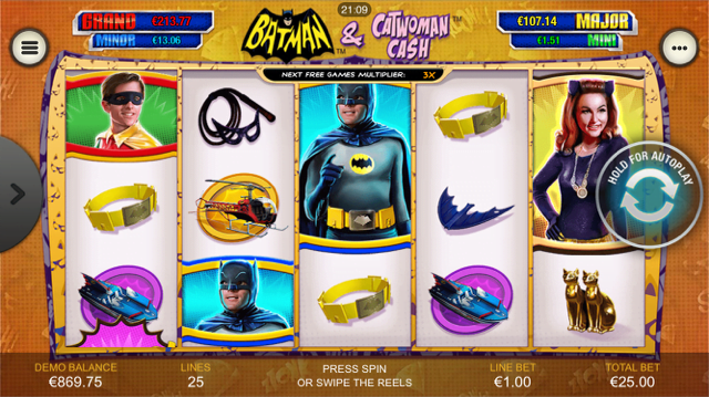 Batman & Catwoman Cash Slot Machine - Play for Free Now